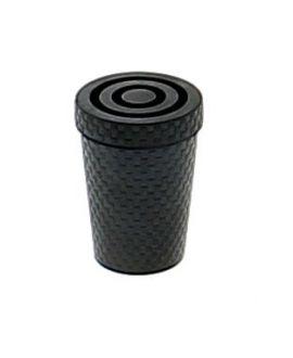 Caoutchouc noir pour canne en métal