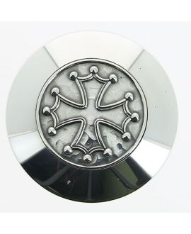 silver plated Cathar cross or cross of the knight templars