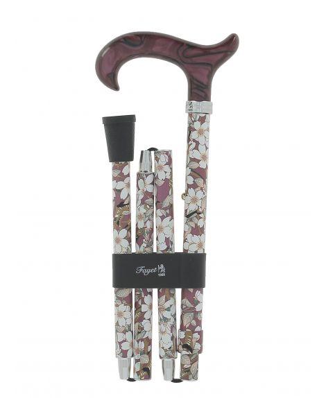 folding cane, old rose flowers