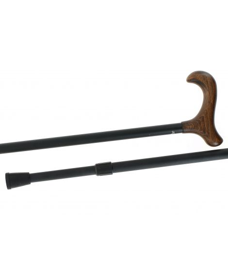 Telescopic cane, wooden handle