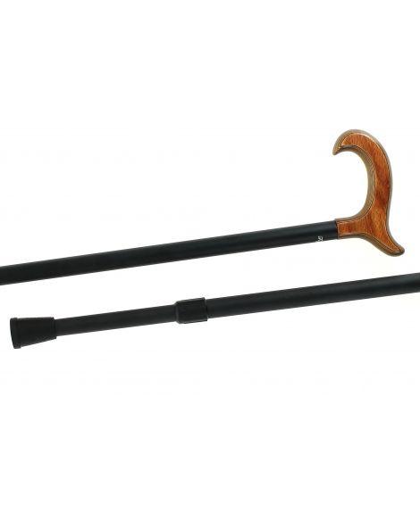 Telescopic cane, stamina wood handle