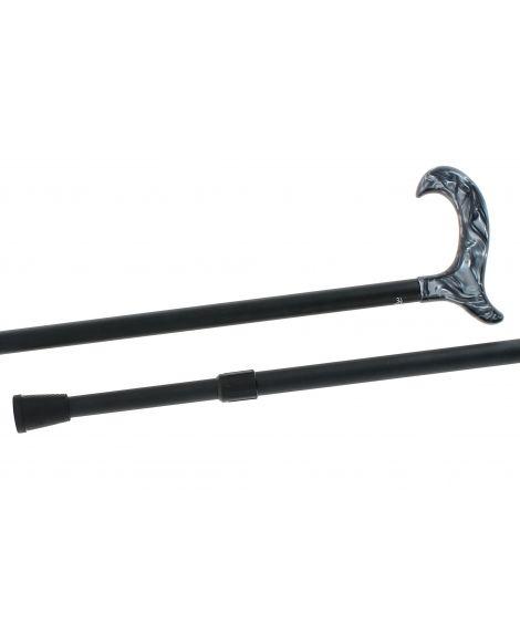 Telescopic cane, grey plexiglas handle