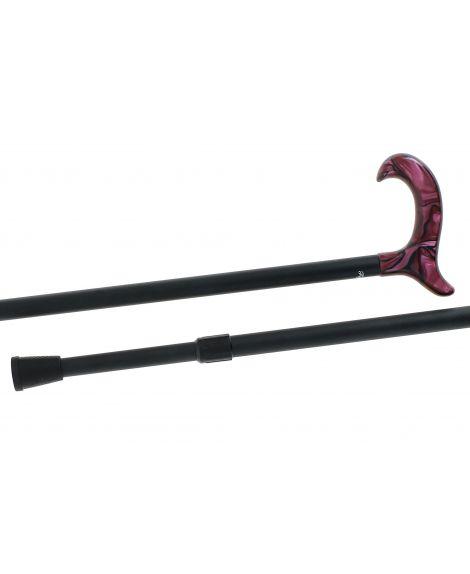 Telescopic cane, purple plexiglas handle