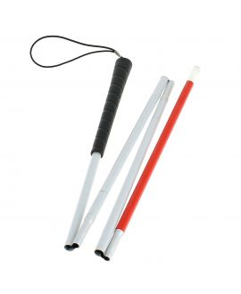 Folding blind sensing shaft, in 4 parts, aluminum tube, plastic sheath