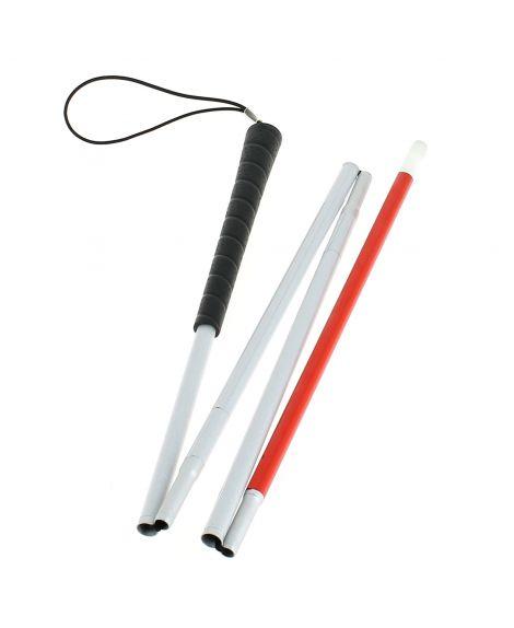 Folding blind sensing shaft, in 4 parts, aluminum tube, plastic sheath