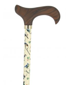 Bird pattern with wood derby handle