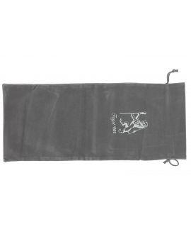 Gray velvet pouch for folding cane
