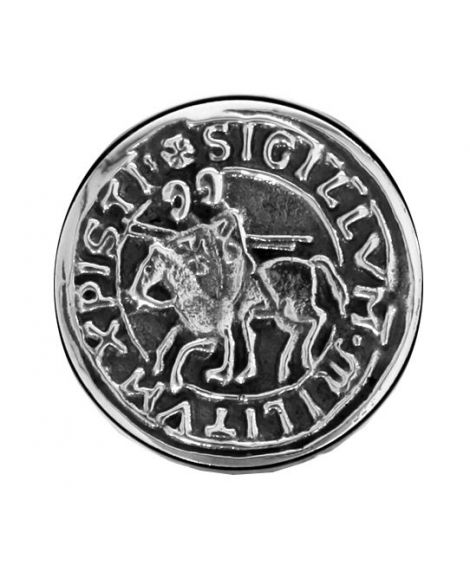 silver plated Seal of the knight templars